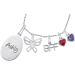 BFF Charm Necklace Set