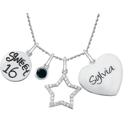 Birthday Charm Necklace Set