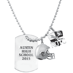Guy's Activity Dog Tag Necklace