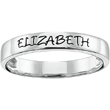 Engraved Stacking Band
